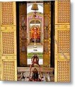 Through The Temple Doors India Metal Print