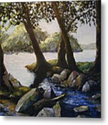 Through The Trees Metal Print by Don Perino