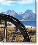 Through The Wheel Metal Print
