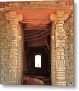 When Windows Become Art - Jain Temple - Amarkantak India Metal Print