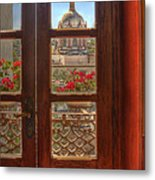 Through The Window Metal Print