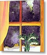 Through The Window Metal Print by Patricia Griffin Brett