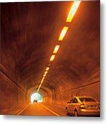 Thru The Tunnel Metal Print