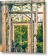 Thru Times Window Metal Print