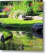 Thula Garden's Water Reflections Metal Print