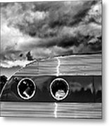 Thunder And Lightning Palm Springs Metal Print
