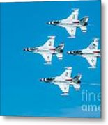 Thunderbird In Formation  Metal Print