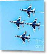 Thunderbirds Flying Over Metal Print