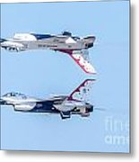 Thunderbirds In A Dangerous Formation Metal Print