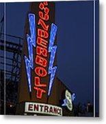 Thunderbolt Rollercoaster Neon Sign Metal Print