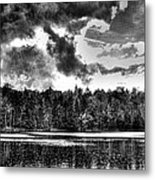 Thunderclouds Over Cary Lake Metal Print by David Patterson
