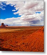 Thunderstorm Artist's Point Monument Valley Metal Print