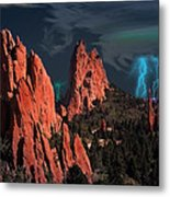 Thunderstorm At Garden Of The Gods Metal Print