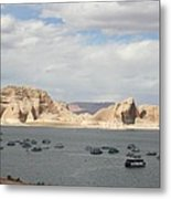 Thunderstorm Atmosphere Over Lake Powell Metal Print