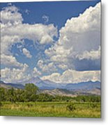 Thunderstorm Clouds Boiling Over The Colorado Rocky Mountains Metal Print