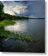 Thunderstorm On The Water Metal Print