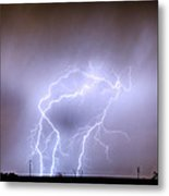 Thunderstorm Triple Threat Metal Print