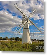 Thurne Dyke Windpump On The Norfolk Broads Metal Print