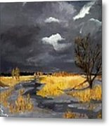 Thus In The Winter Stands The Lonely Tree Metal Print