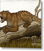 Thylacoleo Carnifex, A Marsupial Metal Print