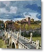 Tiber River In Rome Metal Print