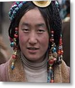 Tibetan Beauty - Kham Metal Print