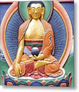 Tibetan Buddhist Deity Wall Sculpture Metal Print