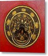 Tibetan Door Knocker Metal Print