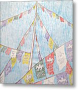 Tibetan Flags Metal Print