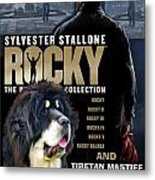 Tibetan Mastiff Art Canvas Print - Rocky Movie Poster Metal Print