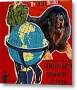 Tibetan Mastiff Art Canvas Print - The Great Dictator Movie Poster Metal Print