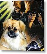 Tibetan Spaniel Art - Blade Runner Movie Poster Metal Print
