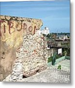 Tiburon And Basketball Court At The Top Of The Fort Wall Metal Print