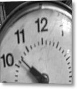 Tick Tock Goes The Clock 3 Metal Print