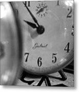 Tick Tock Goes The Clock Metal Print