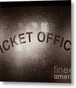 Ticket Office Window Metal Print