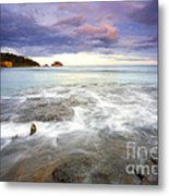 Tide Covered Pavement Metal Print