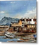 Tide Out Bray Harbour  Wicklow Metal Print