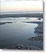 Tide Pools At Sunset Metal Print
