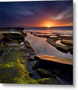 Tidepool Sunsets Metal Print by Peter Tellone