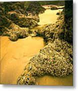 Tidepools From Above Metal Print