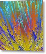 Tie Dye Agave Metal Print