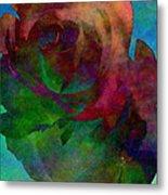 Tie Dye Rose Metal Print