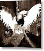 Tied Angel Metal Print by Theda Tammas