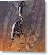 Tied Up In Color Metal Print