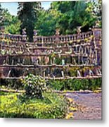 Tiered Fountain Metal Print