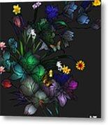 Tiffany Floral Design Metal Print