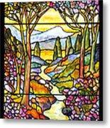 Tiffany Landscape Window Metal Print