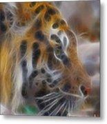 Tiger-5344-fractal Metal Print