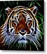 Tiger Abstact Art Metal Print
